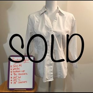 SOLD-Riders by Lee Button-Down Blouse-Size M